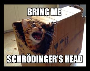 BRING ME SCHRÖDINGER'S HEAD